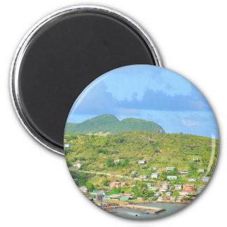 Heilige Lucia Runder Magnet 5,7 Cm