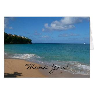 Heilige Lucia-Strand danken Ihnen zu kardieren Karte