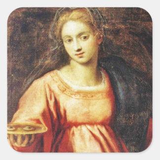 Heilige Lucia von Schweden Quadratischer Aufkleber