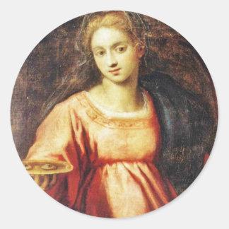 Heilige Lucia von Schweden Runder Aufkleber