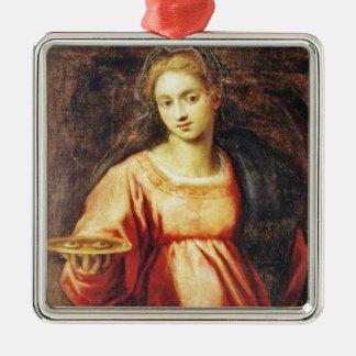 Heilige Lucia von Schweden Silbernes Ornament