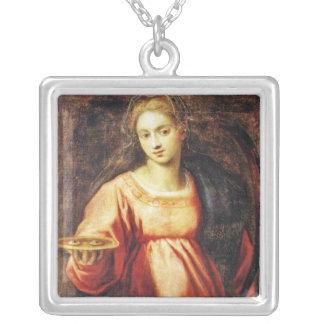 Heilige Lucia von Schweden Versilberte Kette
