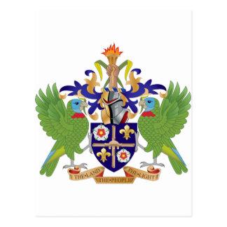 Heilige Lucia-Wappen Postkarte