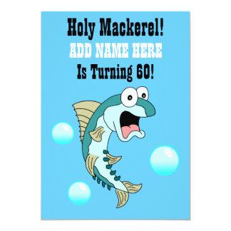 Heilige Makrele, jemand dreht 60 lustige Fische 12,7 X 17,8 Cm Einladungskarte