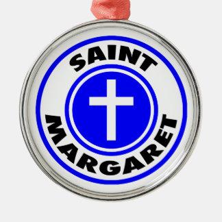 Heilige Margaret Silbernes Ornament