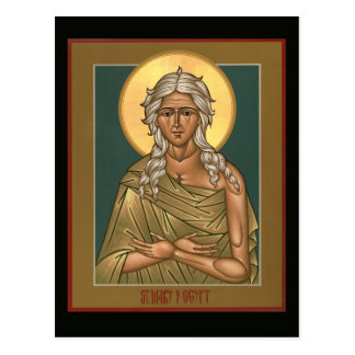Heilige Maria der Ägypten-Gebets-Karte Postkarte
