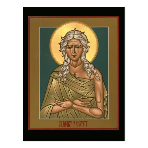 Heilige Maria der Ägypten-Gebets-Karte Postkarten
