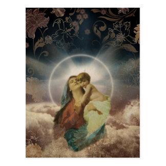 Heilige Maria mit Baby-Vintager religiöser Postkarten