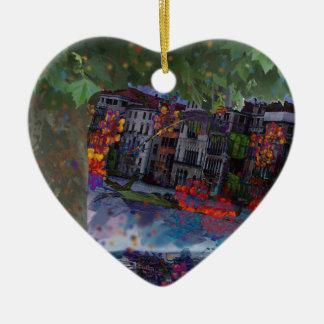 Heilige Nacht Keramik Herz-Ornament