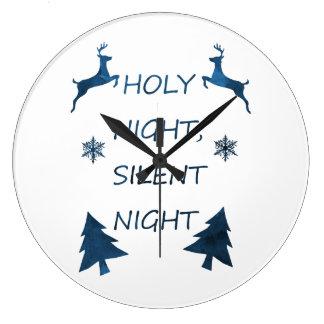 Heilige Nacht, stille Nacht Große Wanduhr