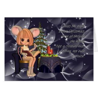 Heilige Nacht vor Weihnachtsmaus Karte