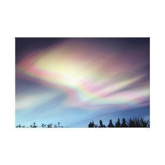 """""""Heilige Ruhm-"""" - polare stratosphärische Wolken Leinwanddruck"""