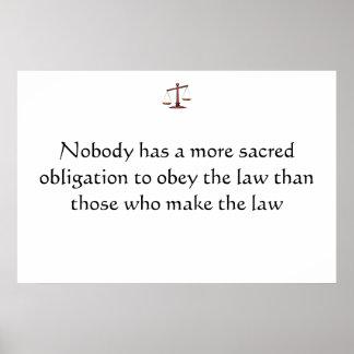 Heilige Verpflichtungen der Rechtsanwälte/der Poli Poster