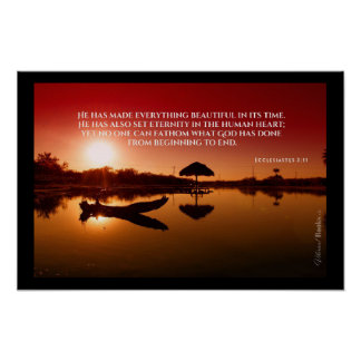 """Heilige Wörter"": Ecclesiastes 3:11 Poster"