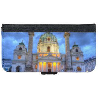 Heiligen Charless Kirche in Wien, Österreich iPhone 6/6s Geldbeutel Hülle