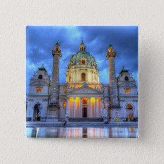 Heiligen Charless Kirche in Wien, Österreich Quadratischer Button 5,1 Cm