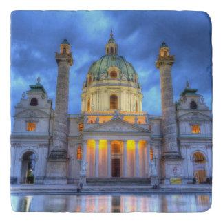 Heiligen Charless Kirche in Wien, Österreich Töpfeuntersetzer