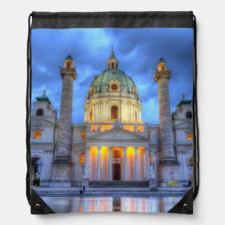 Heiligen Charless Kirche in Wien, Österreich Turnbeutel