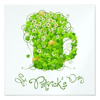 Heiligen Patrick Tageseinladung Karte