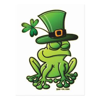 Heiligen Patrick Tagesfrosch Postkarte