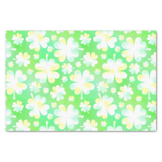 Heiligen Patrick TagesKleeblätterRetro Watercolor Seidenpapier