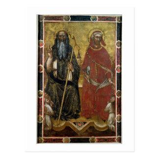 Heiliger Anthony-Abt und Eligius - gemalter Postkarte