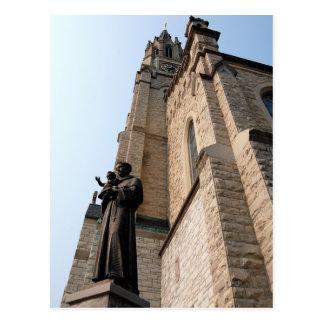 """Heiliger Anthony-Statue-"" Postkarte"