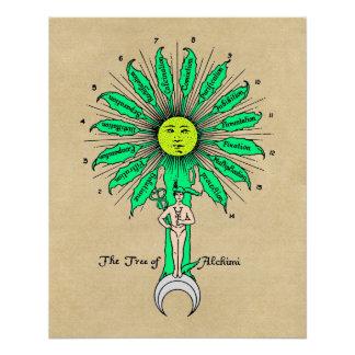 Heiliger Baum Hermess von Alchimie Poster