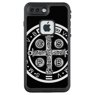Heiliger Benedict-Telefon-Kasten LifeProof FRÄ' iPhone 8 Plus/7 Plus Hülle