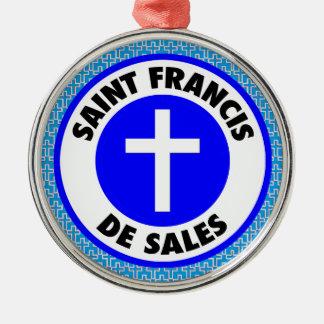 Heiliger Franziskus de Sales Silbernes Ornament