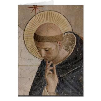 Heiliger Franziskus mit dem Kopf gebeugt Karte