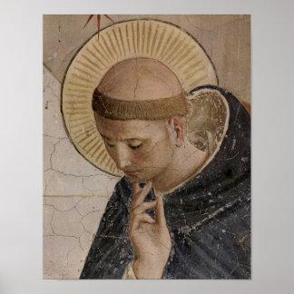 Heiliger Franziskus von Assisi in der Betrachtung Poster