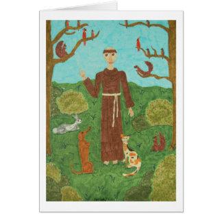 Heiliger Franziskus von Assisi Mitteilungskarte