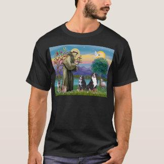 Heiliger Franziskus - zwei Bernese Gebirgshunde T-Shirt