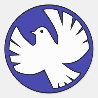 Heiliger Geist Taube Runder Aufkleber