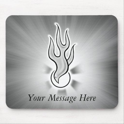 Heiliger Geist Tauben-Flammen-Entwurf Mousepad
