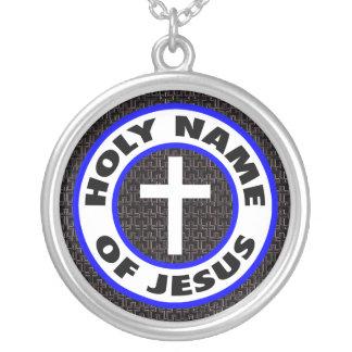 Heiliger Name von Jesus Versilberte Kette