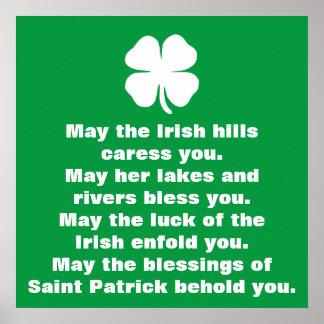 Heiliger Patrick-Segen Poster