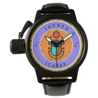 Heiliger Scarabäus Armbanduhr