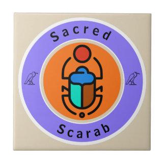 Heiliger Scarabäus Keramikfliese