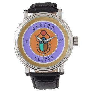 Heiliger Scarabäus Uhr
