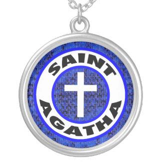 Heiliges Agatha Versilberte Kette