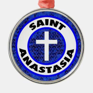 Heiliges Anastasia Silbernes Ornament