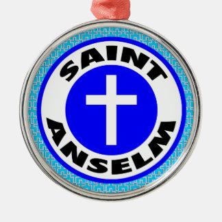 Heiliges Anselm Silbernes Ornament