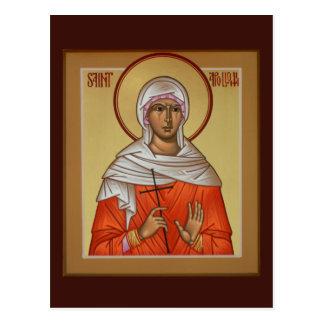 Heiliges Apollonia Gebets-Karte Postkarte