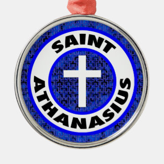 Heiliges Athanasius Silbernes Ornament