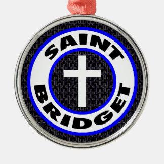 Heiliges Bridget Silbernes Ornament