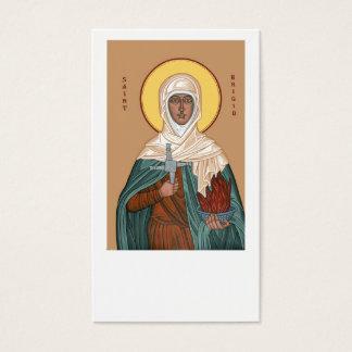 Heiliges Brigid mit Quer- und heiligem Feuer Visitenkarten