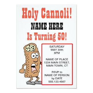 Heiliges Cannoli, das Party Einladung 50 dreht