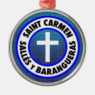 Heiliges Carmen Sallés y Barangueras Silbernes Ornament